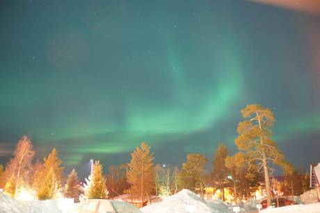Northern lights over Saariselka, Lapland